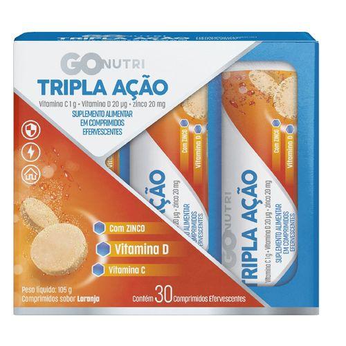 Vitamina C Tripla Ação Gonutri c/ 30 unidades