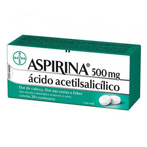 Aspirina 500mg 20 Comprimidos