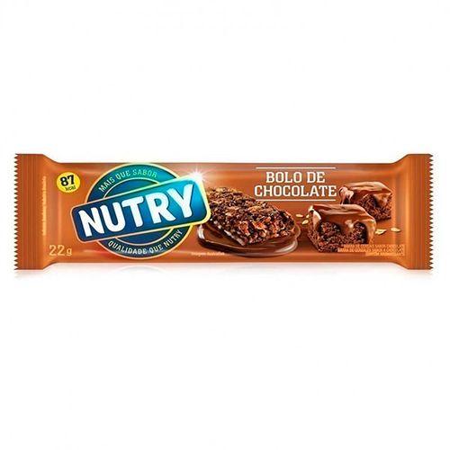 Barra De Cereais Nutry Bolo Chocolate 22G - Nutry