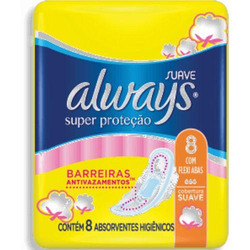 absorvente Always Básico Suave Com Abas - Leve 8 Pague 7 - Always