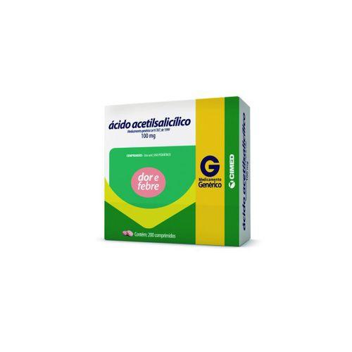 Acido Acetilsalicilico 100mg 10 Comprimidos - Genérico - Cimed