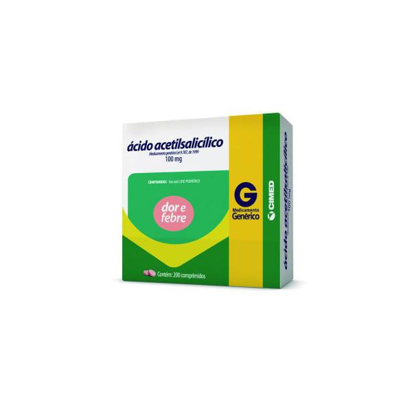 Acido-Acetilsalicilico-100mg-10-Comprimidos---Generico---Cimed