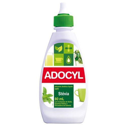 Adoçante Adocyl Stevia Líquido 80Ml - Adocyl