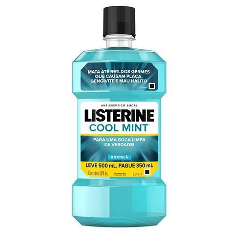Antisséptico Bucal Listerine Cool Mint Leve 500mL e Pague 350ml