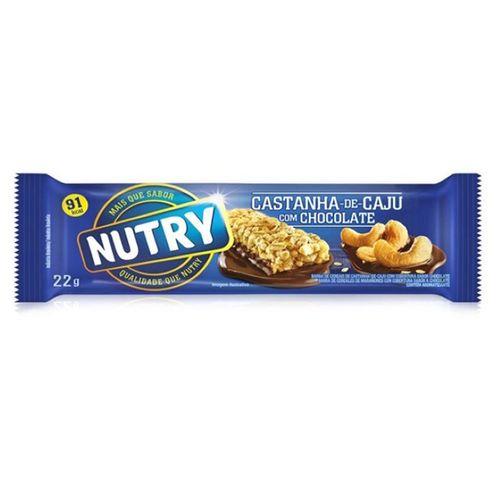 Barra De Cereais Nutry Castanha Caju/Chocolate 22G - Nutry