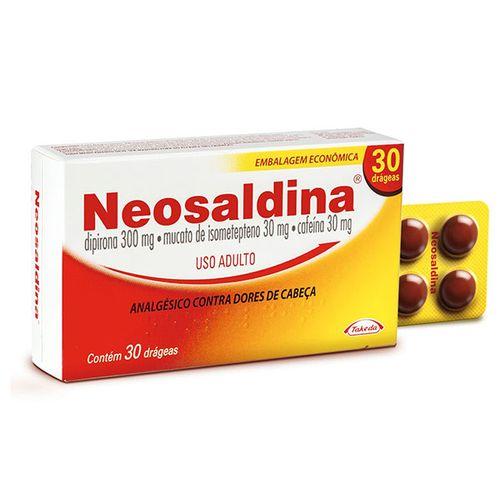 Neosaldina com 30 drágeas de 300 mg