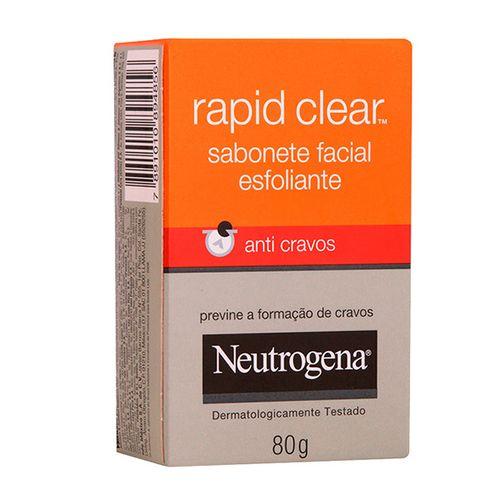 Sabonete Facial Neutrog Rapid Clear Anticreme 80G - Neutrogena