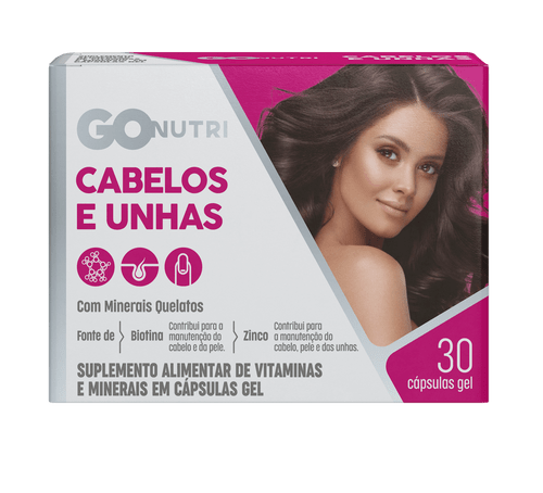 Polivitamínico Cabelos E Unhas Gonutri c/ 30 Cápsulas