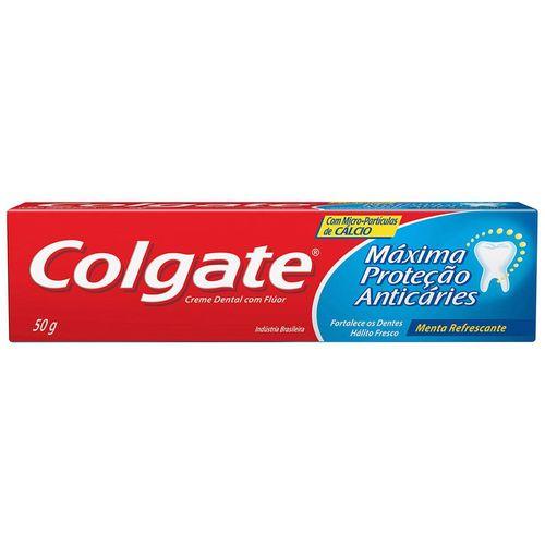 Creme Dental Colgate Menta Max Protetor Anticáries 50G - Colgate