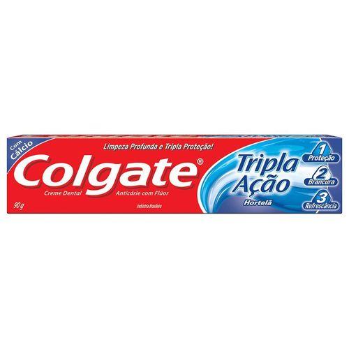 Creme Dental Colgate Tripla Ação Hortelã 90G - Colgate Tripla Acao