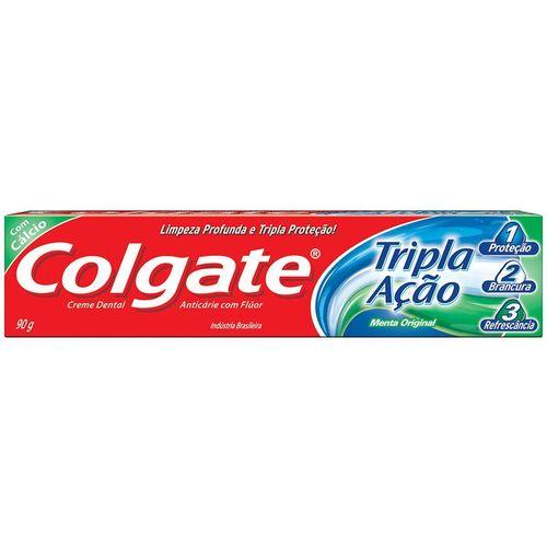 Creme Dental Colgate Tripla Ação Original 90G - Colgate Tripla Acao