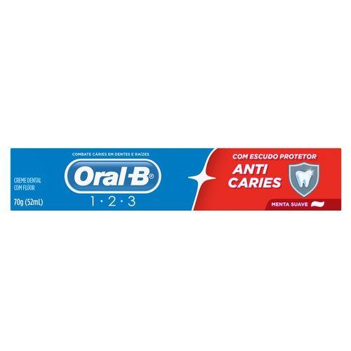 Creme Dental Oral B 123 Menta 70G - Oral B 123