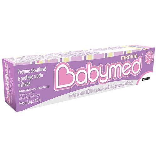 Creme Preventivo Assadura Babymed Pom Dermatológico Menina Rosa 45G