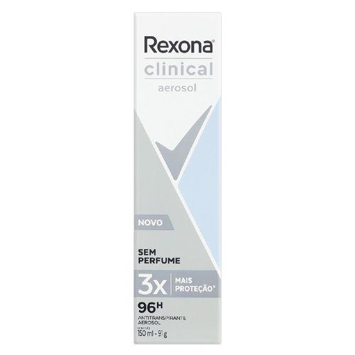Desodorante Aerosol Clinical sem Perfume Rexona 91g
