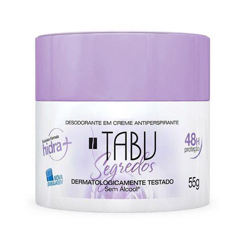 Desodorante Tabu Creme Segredos 55G - Tabu