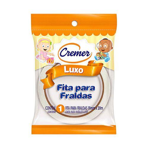 Fita Adesivos Fralda Cremer Luxo Branca 19Mmx20Mt - Cremer