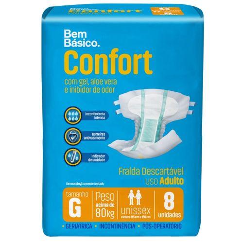 Fralda Geriátrica Bem Básico Confort G 8 unidades