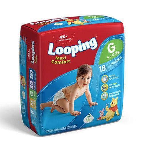 Fralda Looping Maxi Cnft Pratic G 16Un - Looping