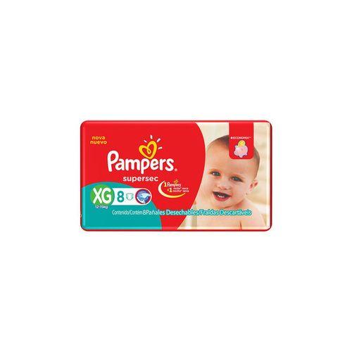Fralda Pampers Sup Sec Pacotinho Xg 8Un - Pampers Supersec