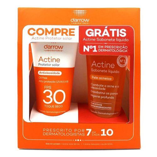 Kit Actine Protetor Sol Fps30 40G Grt Sabonete Actne - Actine