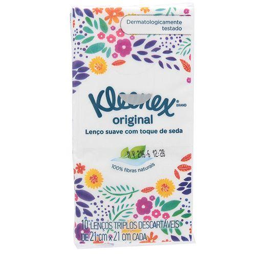 Lenço Kleenex Bolso Com 10 Folhas - Kleenex