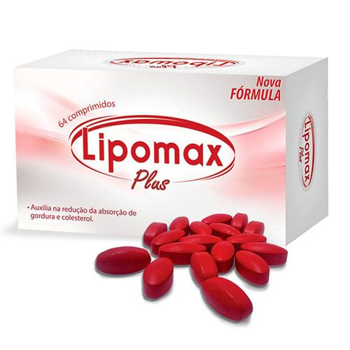 Lipomax Plus 64 Comprimidos Revestidos - Lipomax
