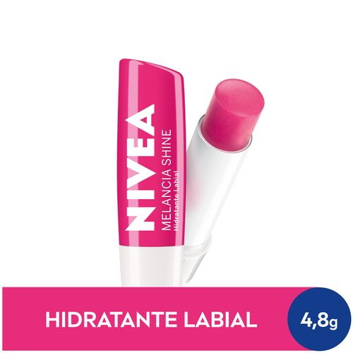 NIVEA Hidratante Labial Melancia Shine Hidratação Profunda 4,8 g
