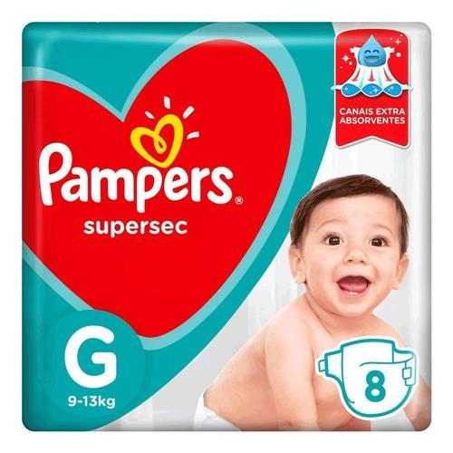 Fralda Pampers Sup Sec Pacotinho G 8Un - Pampers Supersec